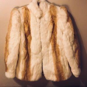 Jackets & Blazers - Women's Fur Coat (dyed rabbit fur)